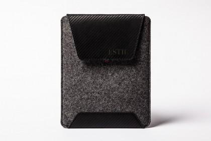 Carbon iPad Air & iPad Mini sleeve dark grey