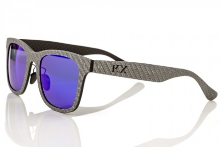 KarbonOptix White with Blue Lenses