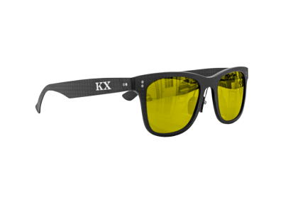 KarbonOptix Black with Gold Lenses