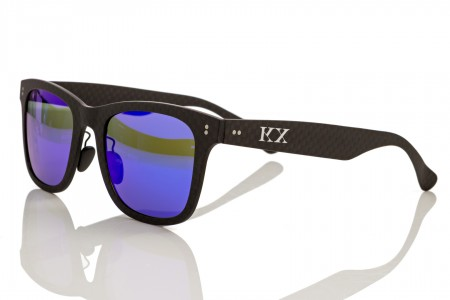 KarbonOptix Black with Blue Lenses