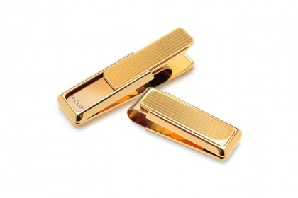 New Yorker Gold Channeled Slide Money Clip