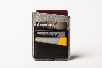 Carbon Passport sleeve light grey
