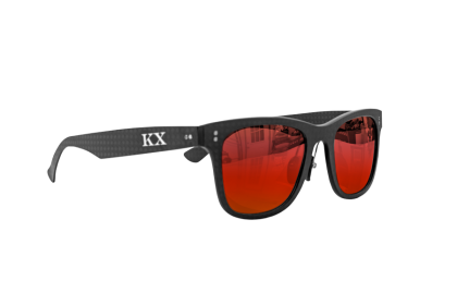 KarbonOptix Black with Red Lenses