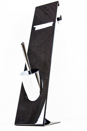 Carbon WC Garnitur Toilettenpapierhalter