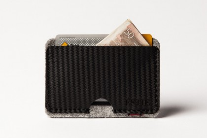 Carbon Cardholder light grey