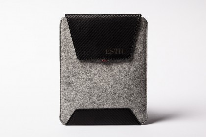 Carbon iPad Air & iPad Mini sleeve light grey